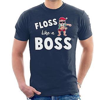 Floss Like A Boss Santa Christmas Slogan Men's T-Shirt