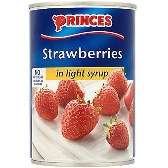 Princes Strawberries in Light Syrup