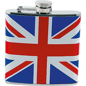 Fiole d'Union Jack Angleterre Whiskey poche hip flask