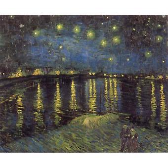 Starry Night,Vincent Van Gogh,50x40cm