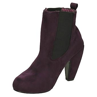 Ladies Spot On Heeled Ankle Boots Style - F50020