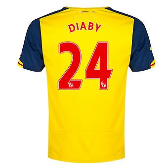 2014-15 Arsenal Away Shirt (Diaby 24) - Kids
