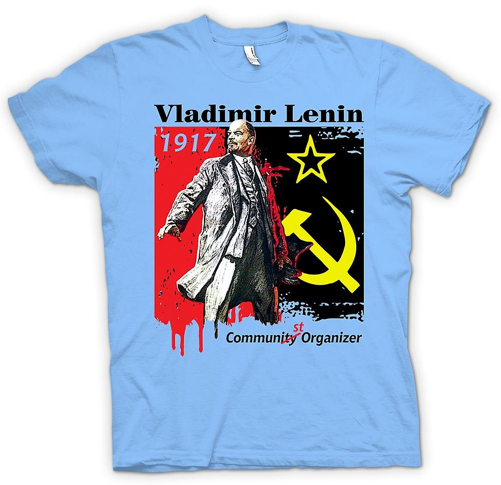 Heren T-shirt - Vladimir Lenin - communistische - Rusland - pictogram