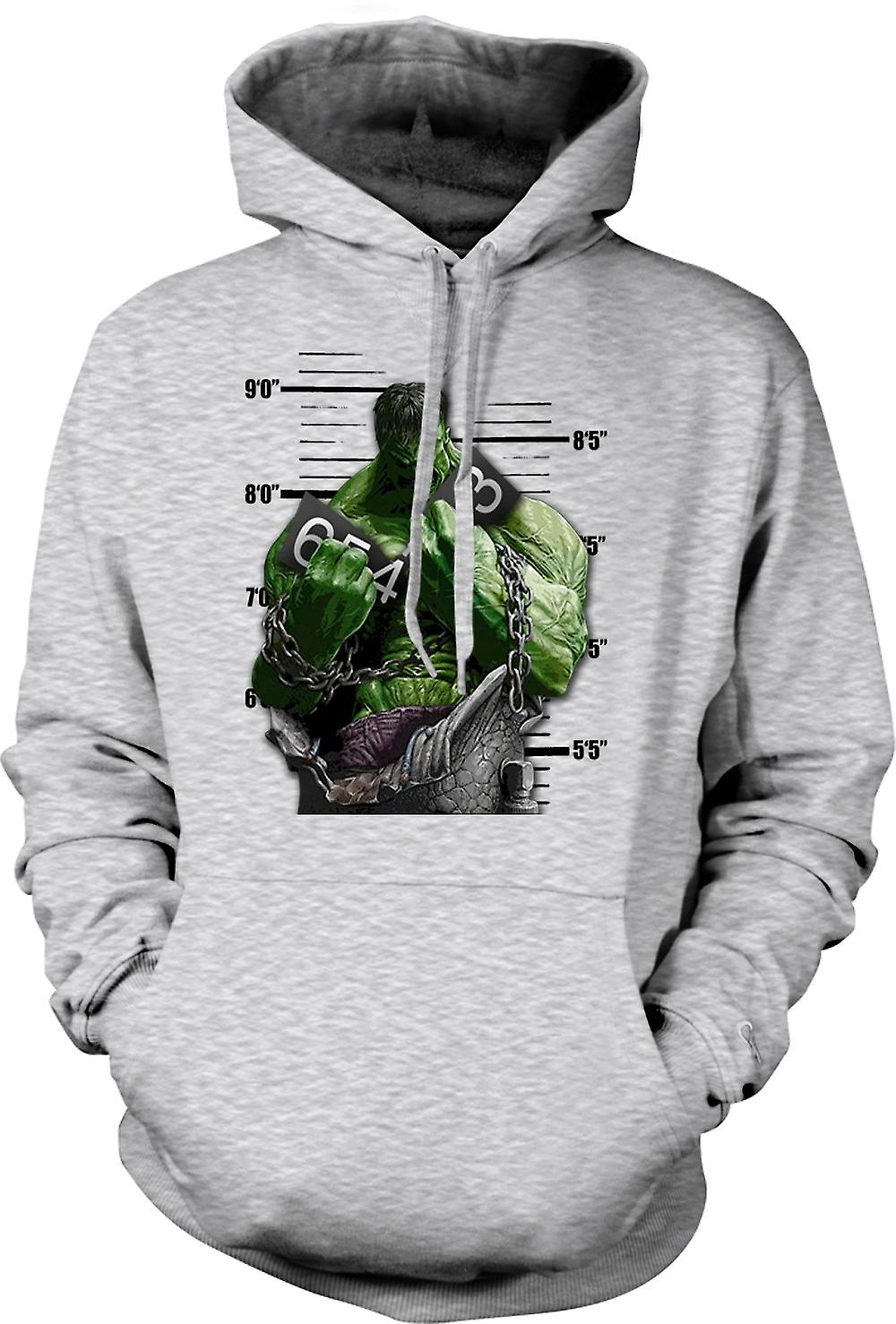 Mens Hoodie - The Hulk - Cartoon - Chains