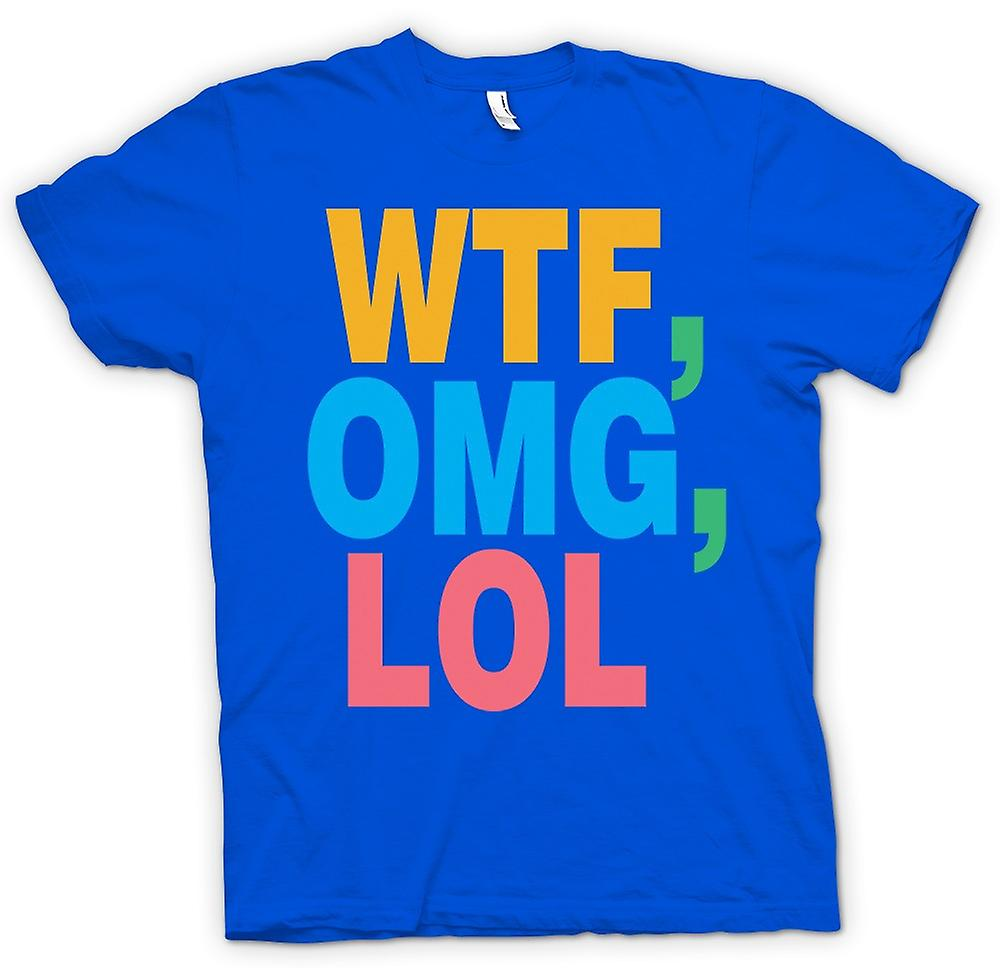 Herren T-Shirt - WTF, OMG, LOL - Lustiges