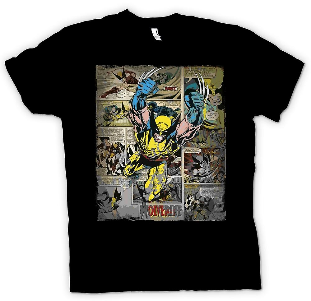 Womens T-shirt - Wolverine Comic Strip - Superhero