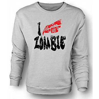 Mens Sweatshirt I Shoot Zombies - Funny