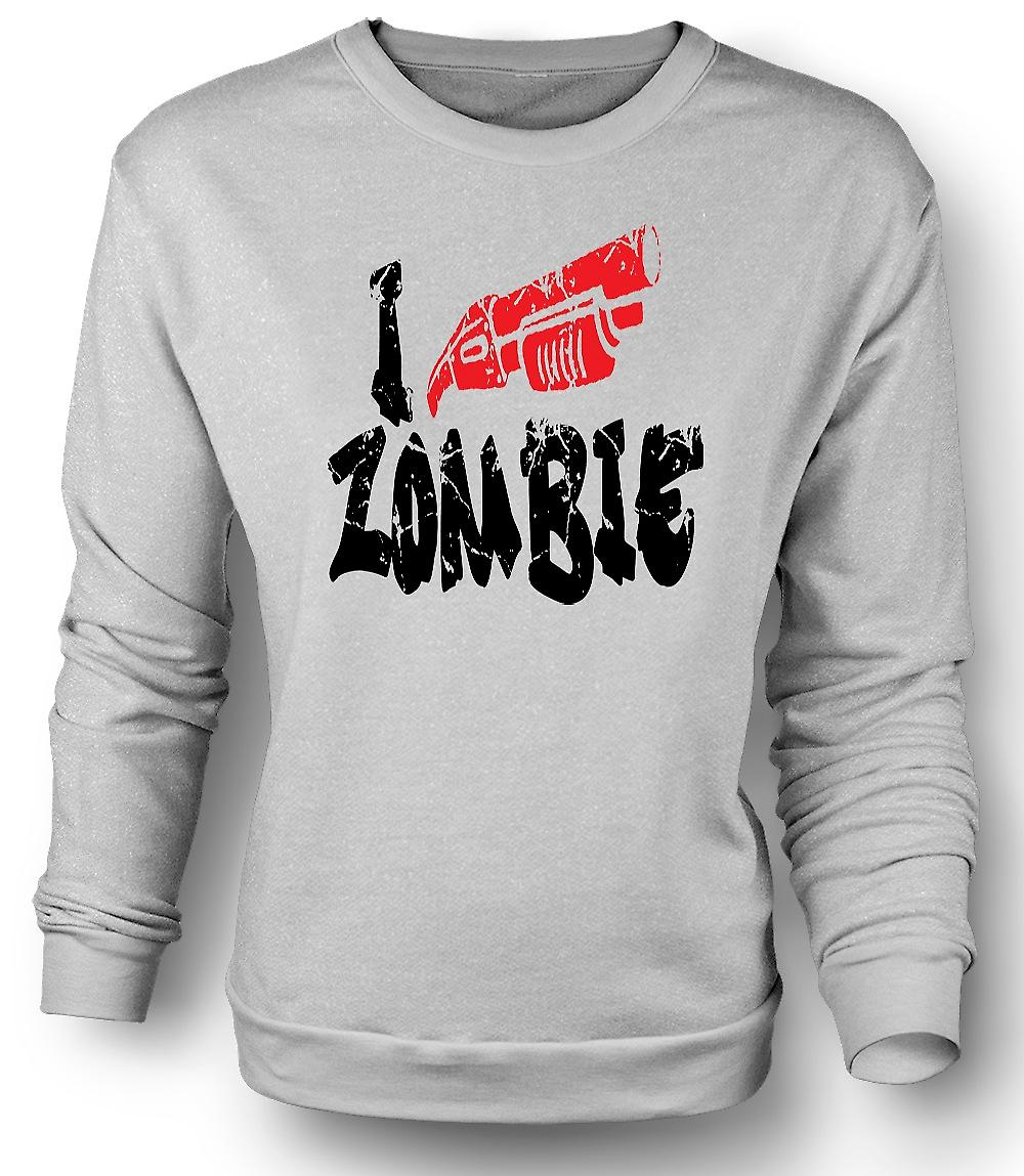 Mens Sweatshirt I Shoot Zombies - Funny