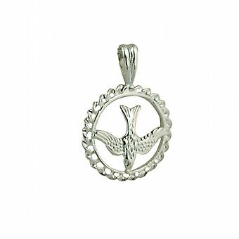 Silver 15mm round Confirmation Pendant or Charm