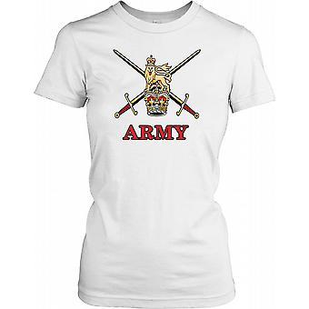 Britiske hær insignier krone og Lion damer T Shirt