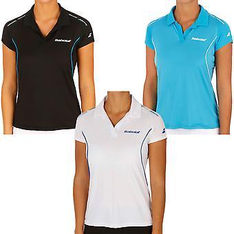Chicas de Babolat coinciden con rendimiento tenis bádminton Squash Polo camiseta Top