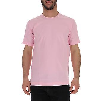 Comme Des Garçons Pink Cotton T-shirt