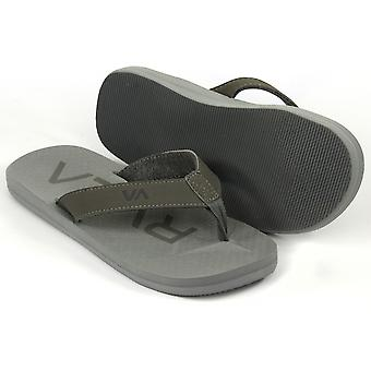 RVCA Mens VA Sport Subtropic Casual Thong Beach Pool Sandals - Gray