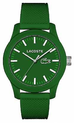 Lacoste Mens 12.12 Green silicone strap green dial 2010763 Watch