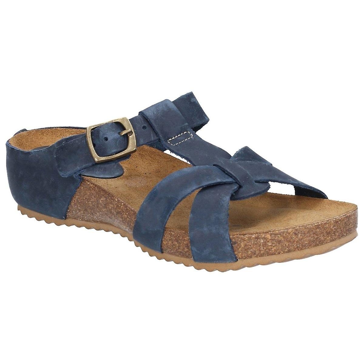 Riva Womens/Ladies Becky Mule T Strap Buckle Sandal