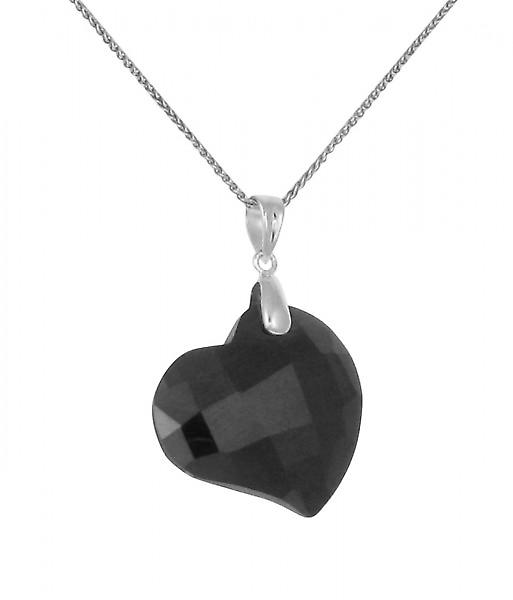 Cavendish French Black CZ Heart Pendant without Chain