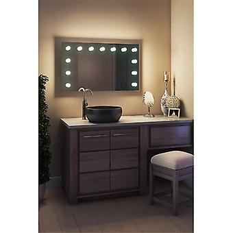 Diamond X Wallmount Hollywood Mirror with Dimmable LED k91LEDbath