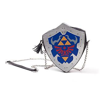 Nintendo Legend of Zelda Hylian Shield Shaped Ladies Shoulder Bag (LB871151ZEL)