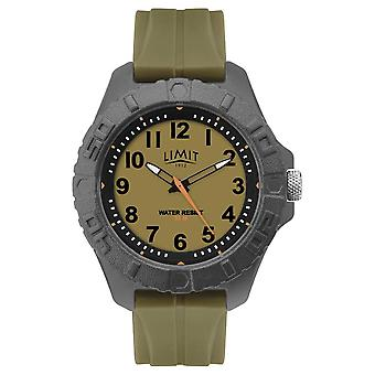 Limit | Mens Active Adult Analogue | Green Rubber Strap | 5753.01 Watch