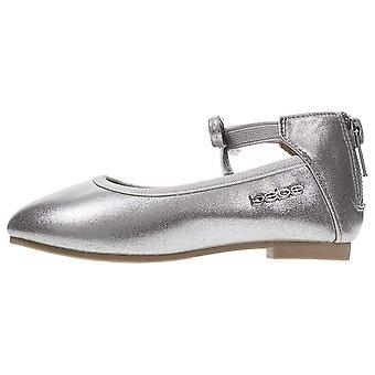 Bebe criança meninas ballet Flats elástico tornozelo cinta pearlized Bow
