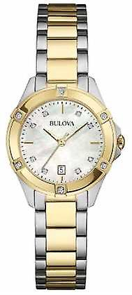 Bulova Ladies due tono diamanti Galleria 98W217 Watch