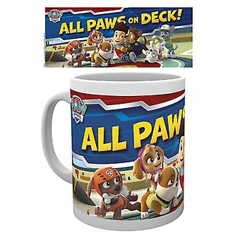 Patrol Pfoten auf deck Boxed trinken Mug