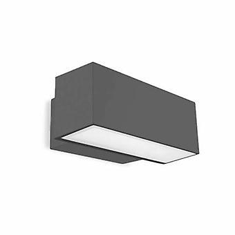 LED extérieur haut/bas mur lumière urbain gris Ip65