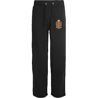 Prince of Wales Own Regiment Of Yorkshire PWRR - Licensed British Army Embroidered Open Hem Sweatpants / Jogging Bottoms