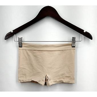 Breezies Panties Stretch Pull On Boyshorts Style Beige Womens