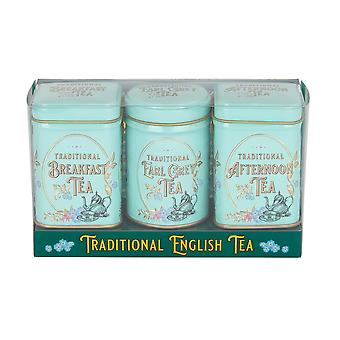 Vintage victorian mini tea tin triple gift pack