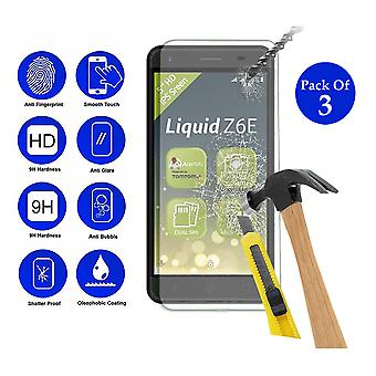 Pack of 3 Tempered Glass Screen Protection For Acer Liquid Z6 E 5