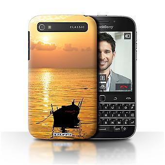 STUFF4 Case/Cover for Blackberry Classic/Q20/Fishing Boat/Sunset Scenery