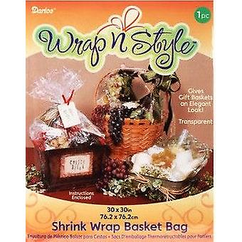 Riesige Shrink Wrap Korb Tasche 76 x 76 cm | Geschenk-Wrap | Weihnachten Geschenkkörbe