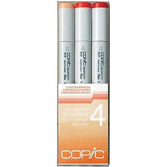 Copic Sketch Blending Trio Markers 3 Pkg 4 Sbt 4