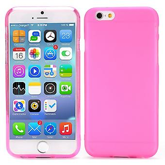 High quality rubber cover TPU case for iPhone 4.7 6 (Pink)