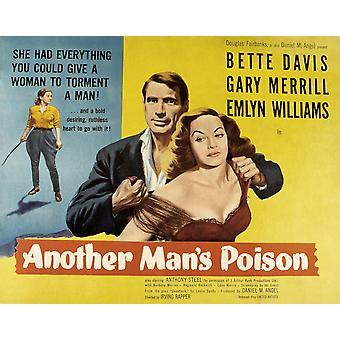 Innego ManS trucizny Gary Merrill Bette Davis 1951 Movie Poster Masterprint