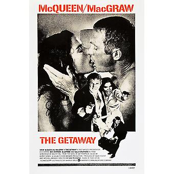 The Getaway Top L-R Ali Macgraw Steve Mcqueen Center L-R Steve Mcqueen Ali Macgraw Bottom L-R Ali Macgraw Steve Mcqueen On Us Poster Art 1972 Movie Poster Masterprint