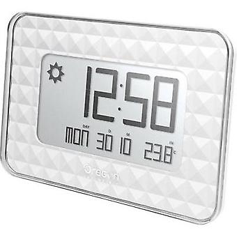 Radio Wall clock Oregon Scientific JW 208 silver 30 mm x 246 mm x 173 mm White