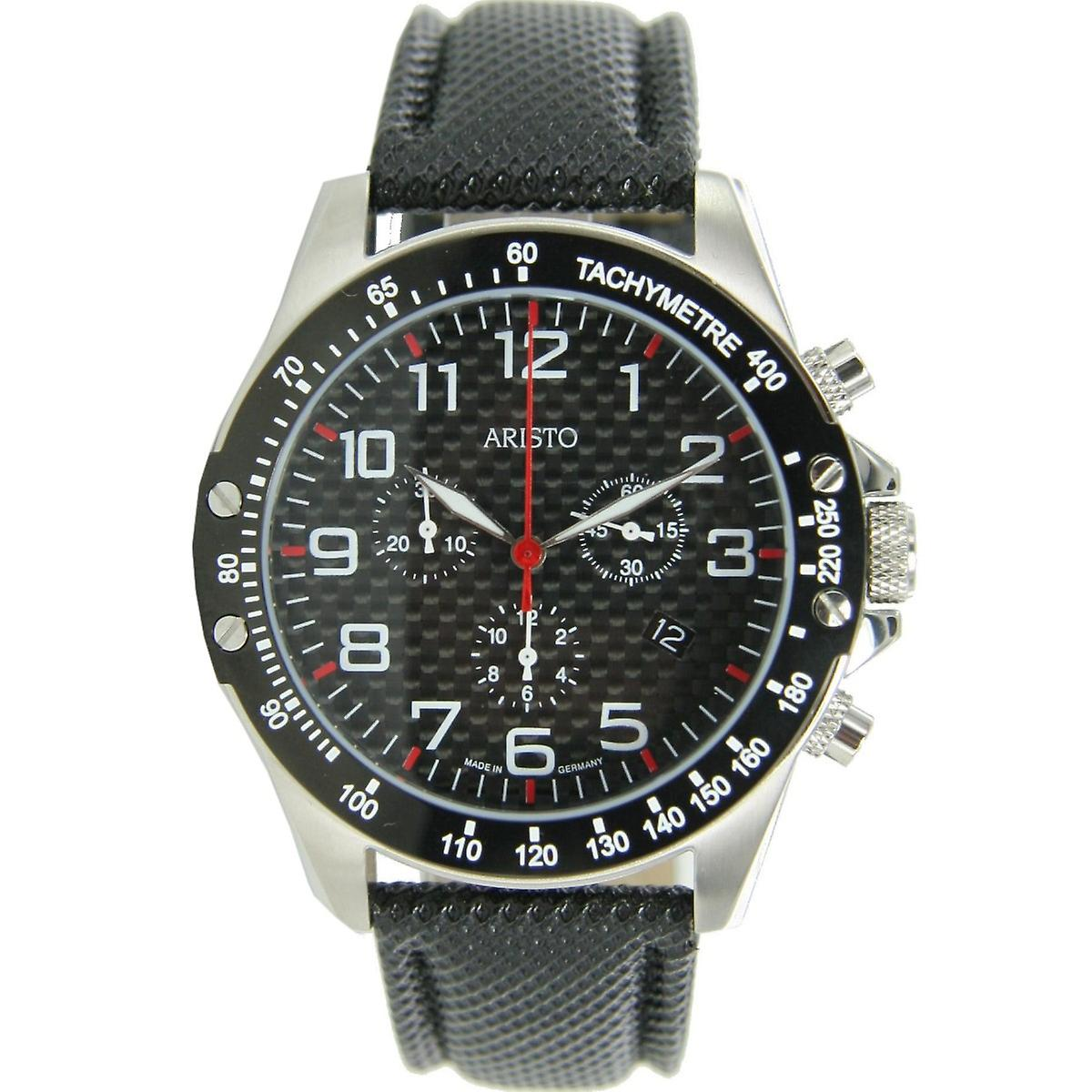 Aristo Men clock Chronograph Carbon Steel Trophy 4H158