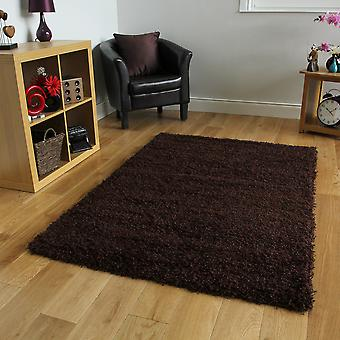 Non Shed Brown Shaggy Hearth Rug Ontario