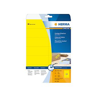 Labels yellow 105x42 3 Herma A4 280 pcs.