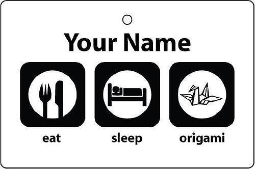 Personalizado comer dormir Origami ambientador de aire