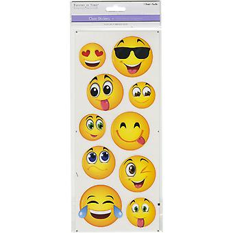 MultiCraft Classic Theme Clear Stickers-Large Emojis SS497-W