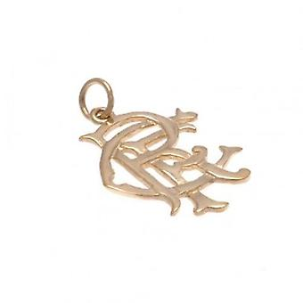 Rangers 9ct Gold Pendant Small