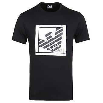 EA7 Black Graphic Series Eagle Branded T-Shirt