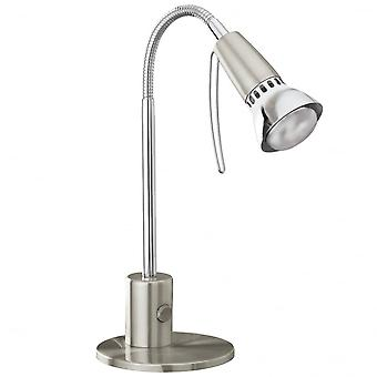 Eglo Fox1 1 Light Table Lamp Satin Nickel