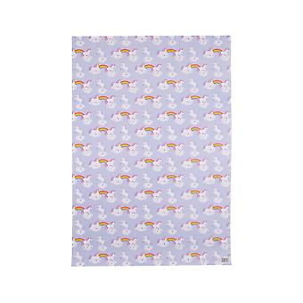 Attitude Clothing Rainbow Unicorn Wrapping Paper & Tag