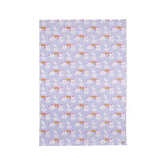 Houding kleding Rainbow Unicorn Wrapping Paper & Tag