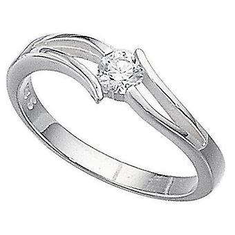 925 Silver Zirconia Solitaire Ring