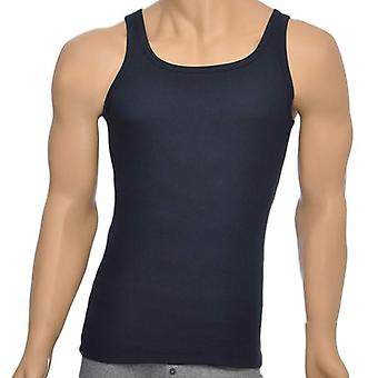 HUGO BOSS Pure Cotton Rib Tank Top, Navy, Small